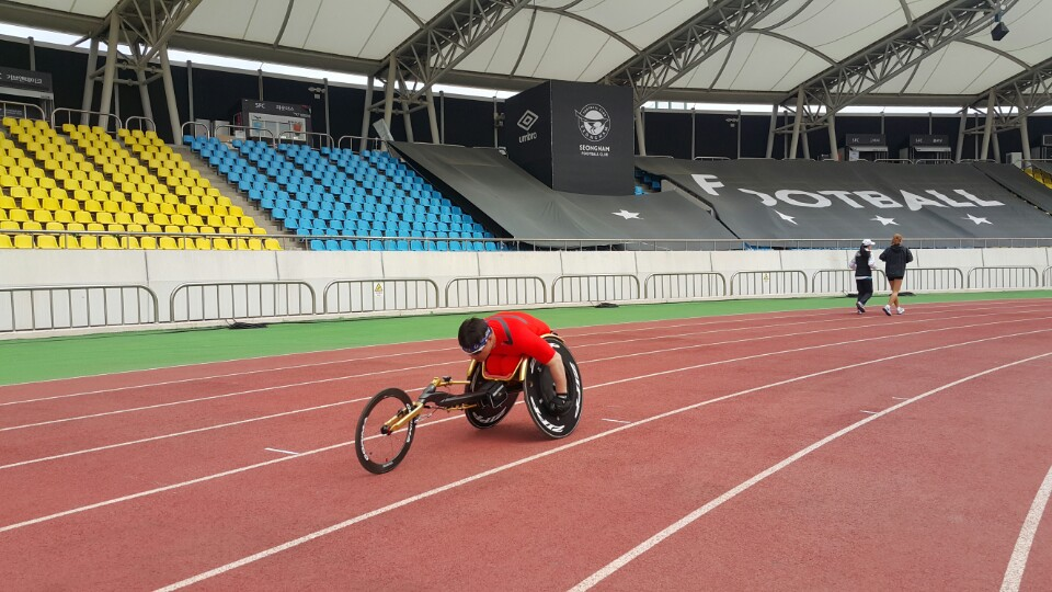 휠체어경주 연습II-사진4