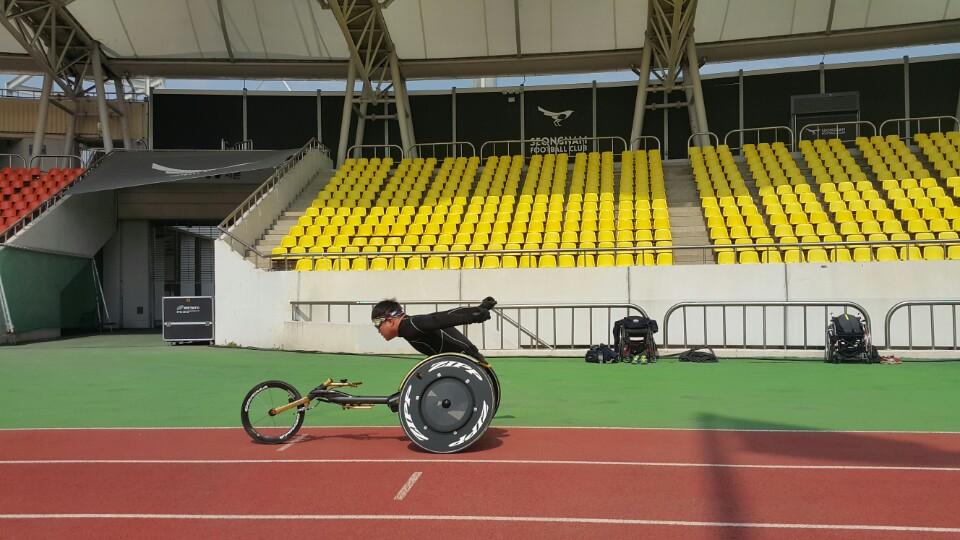 휠체어경주 연습II-사진5