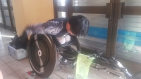 휠체어경주 연습I